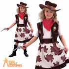 Child Cowgirl Costume Girls Wild West Rodeo Book Week Fancy Dress Outfit New