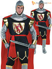 Adult Deluxe Crusader Knight Costume Mens Medieval Historical Fancy Dress Outfit