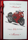 Personalised Handmade A5 Birthday Card Motorbike 30th 40th 50th 60th 65th (1578)
