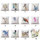"Watercolour Animal 18""x45cm Decor Cotton Linen Cushion cover Pillowcase"