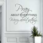 Pray about Everything Wall Sticker Inspiration Quote Living Room Art Vinyl Decor