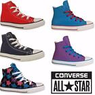 New Kids Young Ladies All Star Juniors Converse Hi Top Lace Up Trainers Shoes Uk