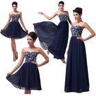Pearl Charm Maxi Formal Long/Short Prom Evening Party BAll Gown Bridesmaid Dress
