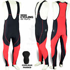 Cycling Best Deals - Mens Cycling Bib Tights Leggings Coolmax Padded Road Bike MTB Long Pants S to XL