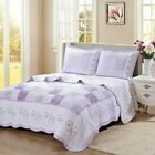 Love of Lilac Real Patchwork 100%Cotton Quilt Set, Bedspread, Coverlet image