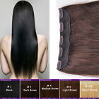 Clip in Remy Human Hair Extensions One Piece Black Brown Blonde Women Top Grade