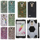 For LG G Stylo LS770 G4 Note PATTERN HARD Protector Case Phone Cover + Pen
