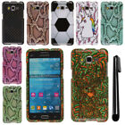 For Samsung Galaxy Grand Prime G530 PATTERN HARD Case Phone Cover + Pen