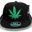 Kush Cannabis Weed Leaf Farm Flat Peak Snapback Cap Hip Hop Money Time