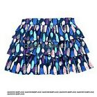 NWT Crazy 8 girls size 10-12  blue purple pink feather Tiered Skirt new