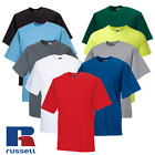 Russell MEN'S T-SHIRT PREMIUM COTTON SUMMER TEE PLAIN COMFORT XS-4XL PLUS SIZE