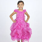 Fuchsia Princess GOWN STYLE DRESS GIRLS Birthday Party Pageant Dance Recital