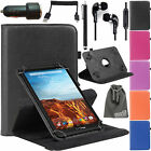 EEEKit Starter Kit for 7 inch Tablet Case Cover+Car Charger Cable+Earphone