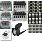 Solar Lights  Wall path LED Spot Panel Post Deck Land Scape , Check