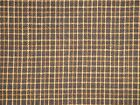 . Cotton Homespun Fabric | Primitive Fabric | Black And Khaki Small Plaid Fabric