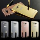 For Samsung Galaxy On7 Glaze Metal Bumper Frame+Mirror Acrylic Back Cover Case