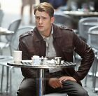 Captain America Chris Evans Cosplay PU Leather Jacket Coat The Avengers New Year