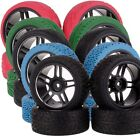 4x 12MM Hub RC 1/10 Car On-Road HPI Redcat HSP Black Metal Wheel Rim Tires 106