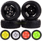 4x RC 1:10 On Road Racing Climbing Wheel Rim & 75MM Rubber Tyre Tires 4025-7004