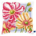 Vervaco Cross Stitch Cushion Kit: New Design PN-0154564 Colourful Flowers (2)