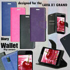 DIARY WALLET STYLE FLIP FLAP COVER CASE For LAVA IRIS X1 GRAND