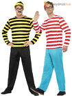 Adult Where's Wally Costume Mens Odlaw Fancy Dress Licensed  Book Week Outfit