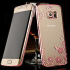 Clear Crystal Rubber Plating TPU Soft Case Cover For Samsung Galaxy S7 S7 Edge