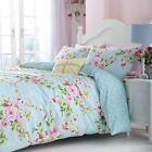 Catherine Lansfield Blue Floral Canterbury Duvet/Quilt Cover With Pillow Cases