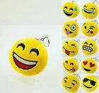 "12pcs 2"" Emoji Smiley Stuffed Plush Toy KEY CHAIN Emoticon Yellow Soft Cushion"