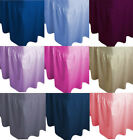 Plain Extra Deep 20+40cm Drop Fitted Valance sheet Poly-Cotton Sheet All Sizes image