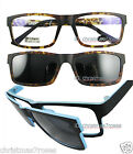 Men Eyeglass frame rectangle W Clip on magnetic polarized sunglasses Super light