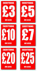 Sale A4 Single sided printed posters x 8 of your choice