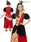Girl Miss Queen of Hearts Costume Child Alice in Wonderland Fancy Dress Book Day