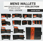 Best Deal OF 15 Mix Styles Wholesale Job Lot Of Brand Leather Wallets UK Seller