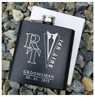 Personalized Flask, Best Man Groomsmen Bridesmaid Gifts Wedding Present Suit Up