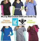 Med Couture MC2 8489 Lexi Sport Neck Scrub Top Choose Size & Color Free Shipping