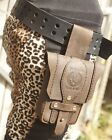 LEATHER BELT POUCH-Crazy horse leather pouch made by seller- 3 sizes available