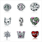 Optional Design Fine Authentic S925 Sterling Silver Charm Fit European Bracelets