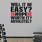 will it be easy gym weightlifter motivational