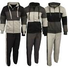 New Mens Hooded Hoodie Full Tracksuit Set Running Jogging Top Bottoms Tracksuit