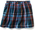 Girl's Old Navy COTTON Circle Skirt Blue Red PLAID Check Size 10 12 Large ~NEW~