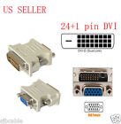 24+1 pin DVI-D Male Adapter to 15 Pin VGA Female Video Converter lots wholesale
