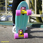 "EDGE Retro Skateboard 22"" Two Bare Feet Cruiser - Pastels, Metallics & Blends"