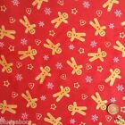 Per half metre ALL NEW POLYCOTTON CHRISMAS FABRICS 112cm wide FREE POSTAGE