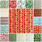 Per half metre ALL NEW POLYCOTTON CHRISMAS FABRICS 112cm wide