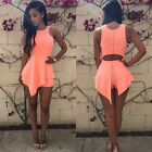 New Womens Sexy Asymmetric Bodycon Party Dress Jumpsuit Romper Playsuit Clubwear
