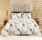 Realtree Camo Bedding Comforter Set with SHAMS Twin Full Queen King White NEW
