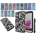 For LG G3 Stylus D690 Anti Shock TPU HYBRID HARD Back Silicone Case Cover + Pen
