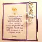 Guardian Angel Prayer with Clip-on Guardian Angel Heart wings on Greeting Card