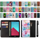 For LG G4 H815 F500 VS986 H810 Magnetic Flip Wallet POUCH Case Phone Cover + Pen